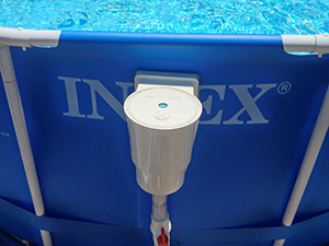Hayward Above Ground Pool Skimmer Installed